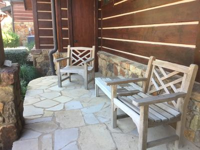 Front porch seating and bench