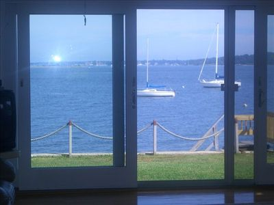 view from your livingroom watching the sail boats