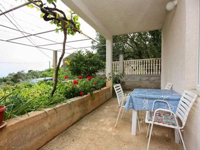 Photo for Studio flat with terrace Ropa (Mljet)