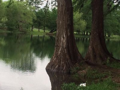 This is the Sabinal River at Utopia Park a short walk from Cowboy House