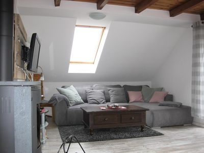 Photo for Large attic apartment with a balcony and free WiFi access