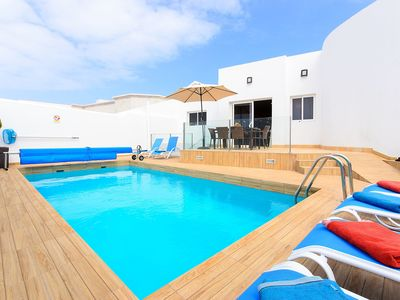 Photo for Modern Villa Xana Close to Beach with Pool, Large Patio, Air Conditioning & Wi-Fi