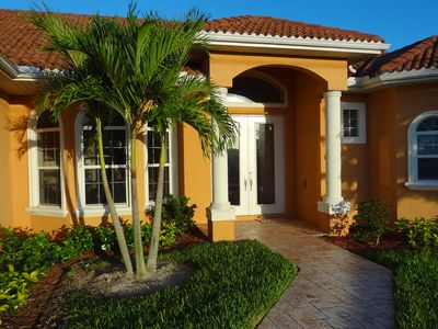 Photo for Gorgeous Villa at golf canal, pool with SPA, Weber BBQ, 2013 renovated