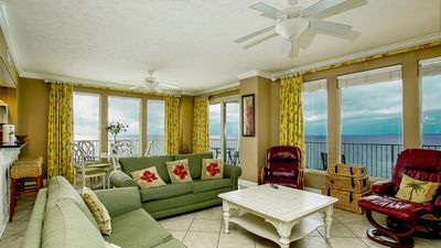 Photo for Oceanfront condo, end unit fabulous views, features easy beach access!