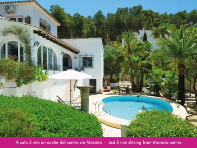 Photo for 6P. VILLA WITH PRIVATE POOL, 5 MIN FROM MORAIRA CENTER AND THE BEST BEACHES