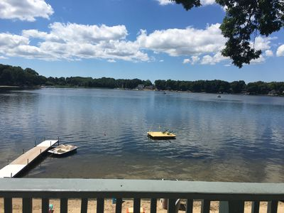 Photo for Keeler Lake retreat with private beach!