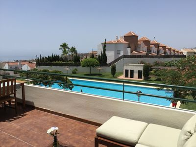 Photo for PRIVATE TERRACE, SEA VIEWS AND SWIMING POOL