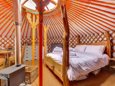 Photo for Lapwing Yurt - One Bedroom House, Sleeps 4
