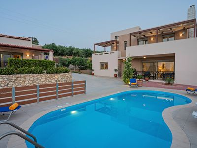 Photo for Modern family villas Sandy-Evi in Asteri, 2 buildings, private pool
