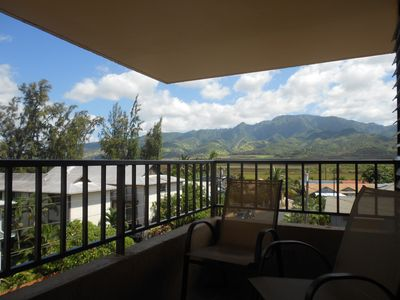 Mountain views from the living room's lanai.