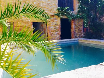 Photo for Near UZES-CHARME- Village center- heated pool- Cozy-Very well equipped