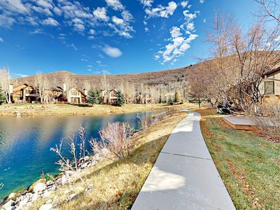 Deer Lake - Welcome to Park City! The house is perched beside Deer Lake, with a walking path for idyllic strolls.