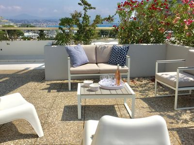 Photo for Nice sea view apartment - Large terrace