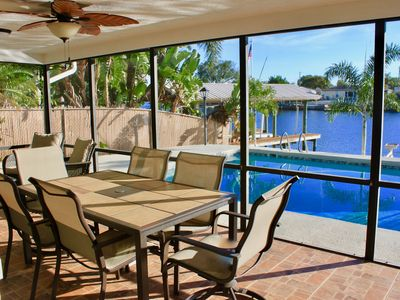Photo for Waterfront Poolside Paradise