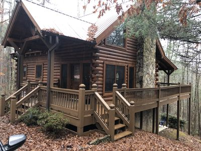 Photo for Beautiful 3BR/2BA cabin just 5 miles from Blue Ridge!  Perfect family escape!
