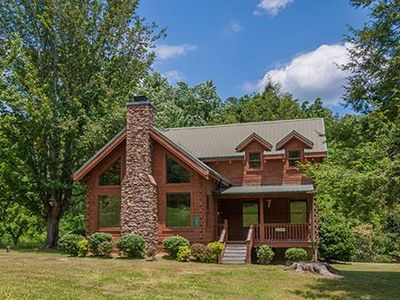 Photo for Close to Pigeon Forge/ Dollywood! Located in Wears Valley- 2 bdrm Hot Tub, Pool Table and Fireplace. Beautiful Log Home
