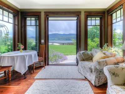 Photo for Country Bay Manor, private ocean front Bed & Breakfast on shores of Nanoose Bay.