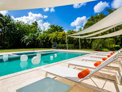 Photo for Tropical Modern Villa with 5-Star Staff & 1Cart, Walking Distance to the Beach