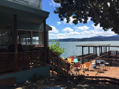 Photo for House on Clearlake, on the water with a dock.