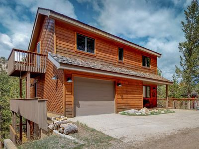 Photo for NEW LISTING! Great location near national park & town w/ deck & mountain view!