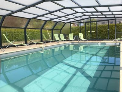 Photo for SET OF TWO GITES and covered and heated swimming pool