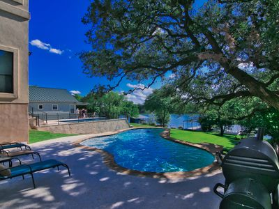 Photo for LBJ Lake House - Heated Swimming Pool, Fire Pit, WiFi, Paddle Boards, Ping-Pong