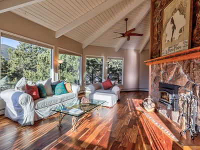 Photo for 10% OFF APRIL-MAY STAYS - BOOK NOW Spacious, Quiet Mountain Home w/ far-reaching views! 2 Fireplaces