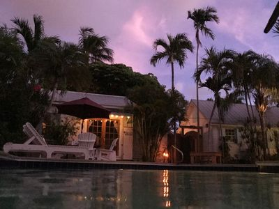 Photo for Old Town Charm In A Former Authors Retreat! Private Tropical Setting With Pool!