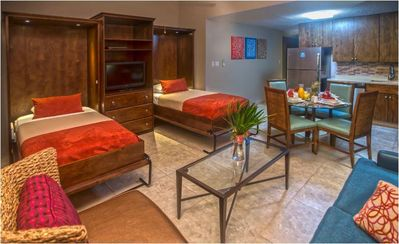 Simpson Bay Resort & Marina Living Room with Murphy Beds