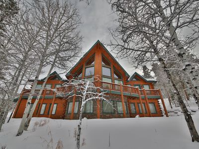 Photo for 5BR Luxury Mountain Home Sleeps 10-15: Large Hot Tub, 3 Living areas