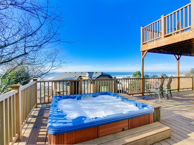 Photo for Enjoy gorgeous ocean view decks, a private hot tub & a well-stocked game room!