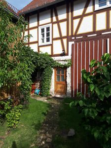 Photo for Cozy apartment in a listed half-timbered estate
