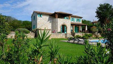 Photo for Istrian villa with pool and view to the sea