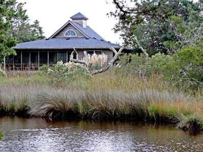 Photo for Southern Comfort:  Tucked among live oaks,  amazing salt marsh views.