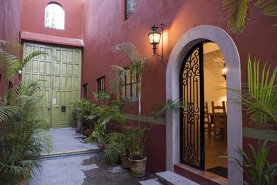 Outer door opens to a private courtyard and your San Miguel getaway