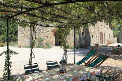 Outdoor furnished loggia for private use of the Arco's guests