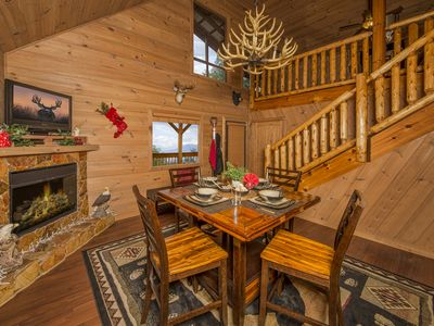 Photo for Discover Luxury 1 Br Cabin + Loft on 1 Acre~Mountains View~Fast WiFi~Fire Pit