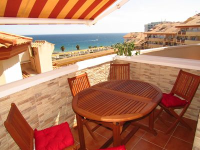 Photo for Beautiful 3 bedroom apartment with sea views and 50m from the beach