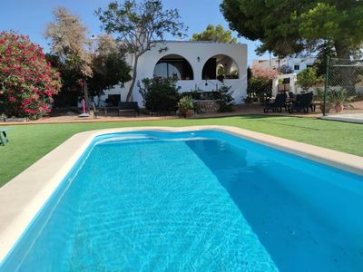 Photo for Wonderful Villa in Ibiza with Pool, WiFi, Air conditioner and tennis court.