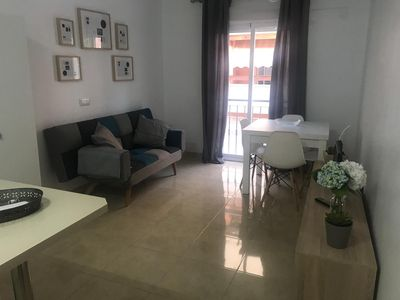 Photo for Refurbished apartment . 7' walk distance from the beach