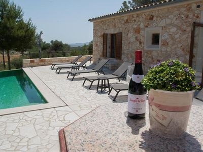 Photo for QUIET IDYLLIC NATURAL STONE FINCA - private pool, garden, terrace, WIFI, TV, BBQ