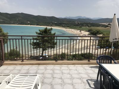 Photo for APARTMENT 4 BEDS IN HOUSE ON BEACH OF LOZARI 7 KM FROM THE ISLAND ROUSSE