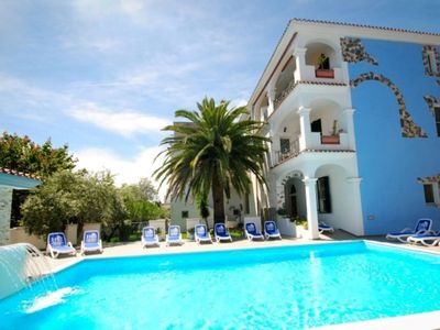 Photo for With huge balcony and view of pool and garden, 1,5km from the sandy beach