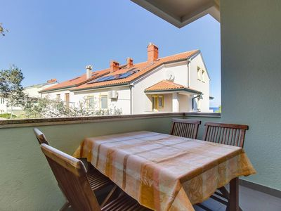 Photo for Two bedroom apartment with terrace and sea view Mali Lošinj (Lošinj) (A-376-a)