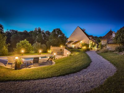Photo for Luxury Manor House in the Burgundy Vines with Heated Pool and AC in Bedrooms