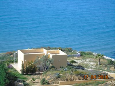 Photo for Villa Sonia on the sea, all comforts, free Wifi, air conditioning.