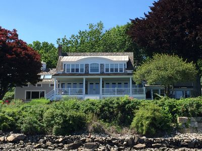 Spacious waterfront home with amazing views and dock.