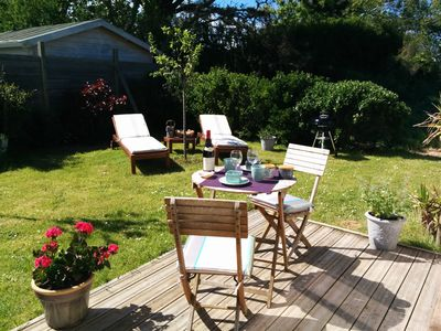 Photo for Wellness stay (massage, sauna) in gite with private garden at 400 m from the beach