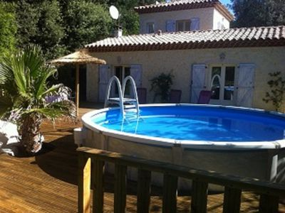 Photo for house 6 people private pool bowling barbecue terrace