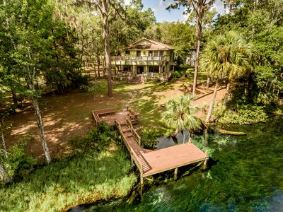 Photo for Riverfront Vacation Home on Rainbow River with Dock